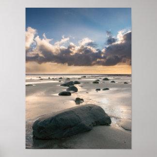 Beach Boulders Print/Poster Poster