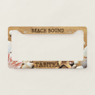 Beach Bound Customizable License Plate Frames