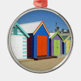 Beach Box Hut Melbourne Australia Silver-Colored Round Ornament