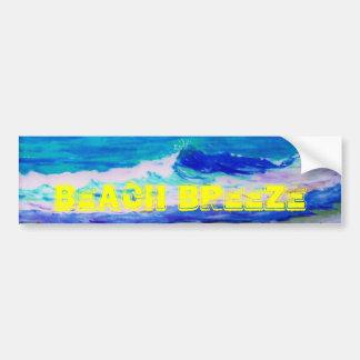Beach Breeze Car Bumper Sticker