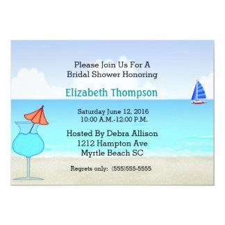 "Beach Bridal Shower Invitation 5"" X 7"" Invitation Card"