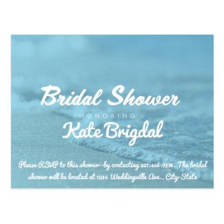 Beach Bridal Shower Invitation Postcard