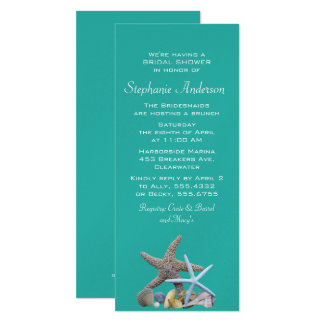 Beach Bridal Shower Starfish Invitations