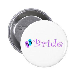 Beach Bride Button