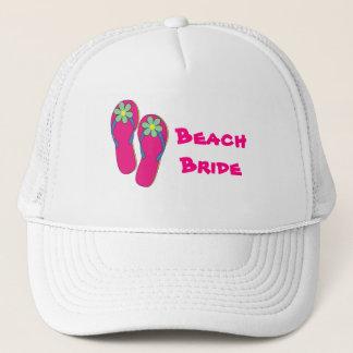 Beach Bride Hat:  Flip Flop Design Trucker Hat