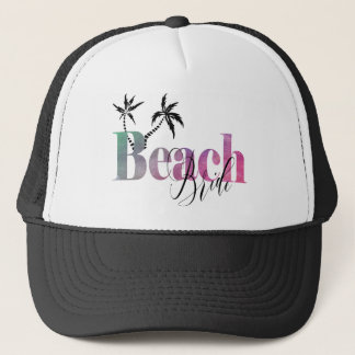 BEACH BRIDE - PALM TREES TRUCKER HAT