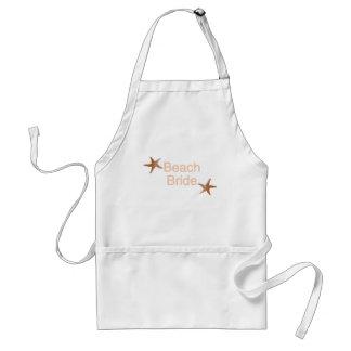 Beach Bride Starfish Design Standard Apron