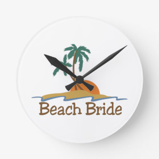 Beach Bride Wall Clocks