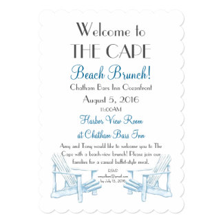 Beach Brunch Invitation