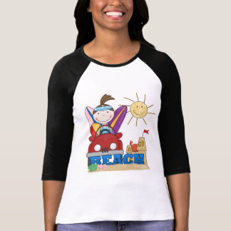 BEACH Brunette Girl T-shirts and Gifts