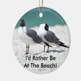 Beach Buddies Ceramic Ornament