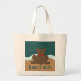 Beach Bum Bear Large Tote Bag