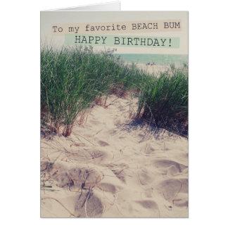 Beach Bum Birthday Card