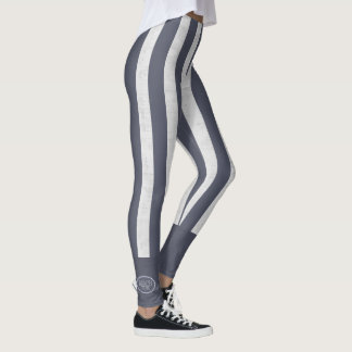 Beach Bum Bold Nautical Stripes Leggings