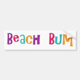 Beach Bum Bumper Sticker