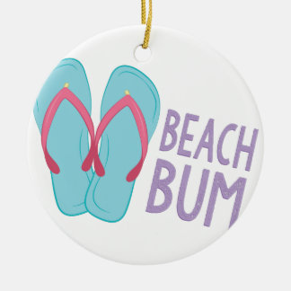 Beach Bum Ceramic Ornament