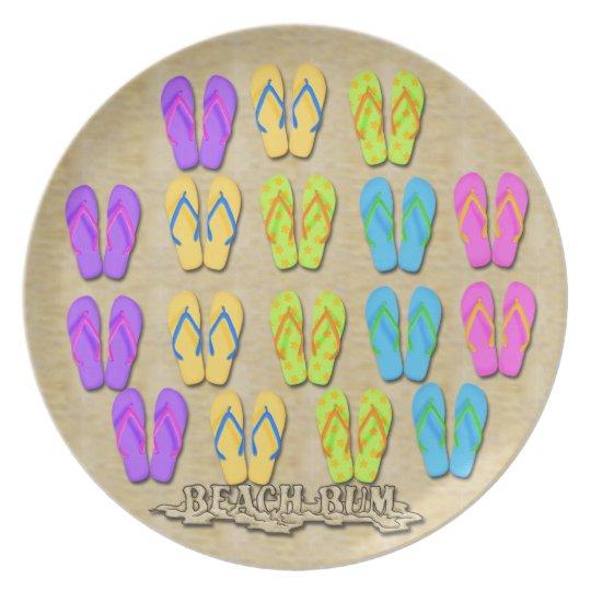 Beach Bum Flip Flops Plate