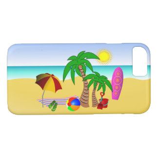 Beach Bum Fun in the Sun Sea and Surf Summer Slim iPhone 8/7 Case