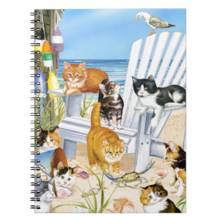 Beach Bum Kittens Spiral Notebook