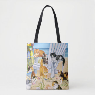 Beach Bum Kittens Tote Bag