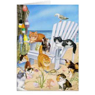Beach Bum Kitties! Card