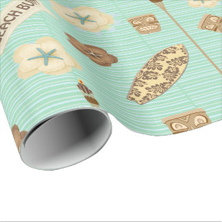 Beach Bum Linen Wrapping Paper
