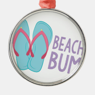 Beach Bum Metal Ornament