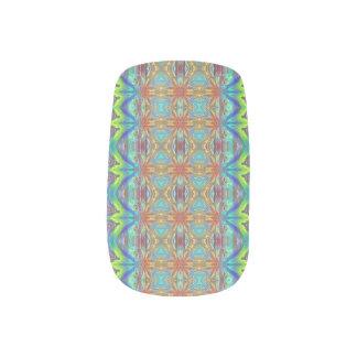 Beach bum plaid minx nail art