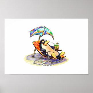beach bum print