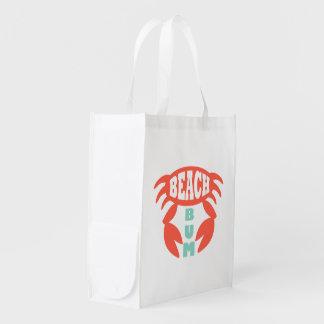 Beach Bum Reusable Grocery Bag