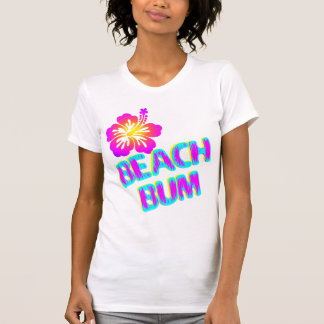 Beach Bum Saying Plumeria Flower T-Shirt