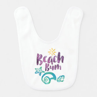 Beach Bum Seashells & Sun Summer Vacation KD06 Bib