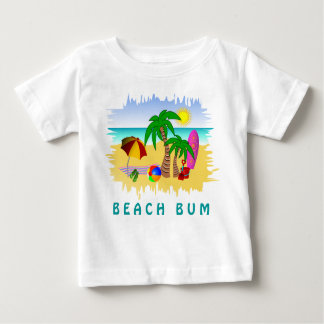Beach Bum Sun Sea and Surf Fun Colorful Baby Tee