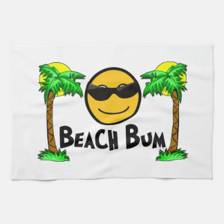 Beach Bum Sunshine & Palm Trees Kitchen Towel