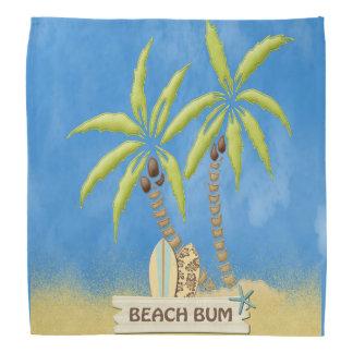 Beach Bum, Surfboards, Palm Trees and Sand Bandana