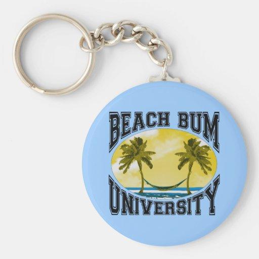 Beach Bum University Key Chain