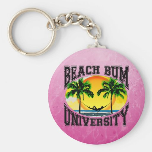 Beach Bum University Key Chains