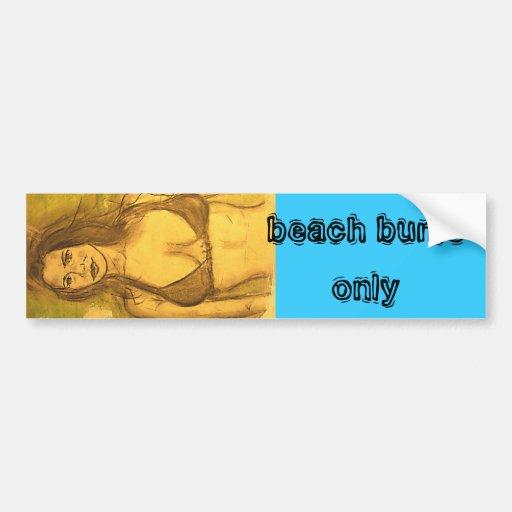 beach bums only bumper sticker