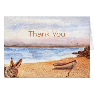 'Beach Bunny (Thank You)' Card