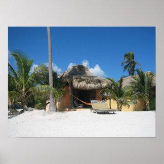 Beach Cabana Poster