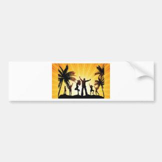 Beach celebration bumper sticker