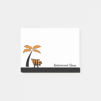 Beach Chair and Palm Tree Retirement Ideas Post-it Notes