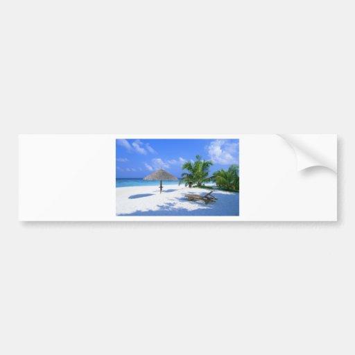 Beach Chair Bumper Sticker
