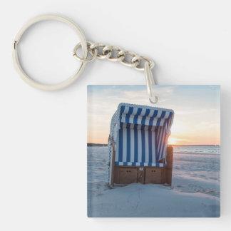 Beach chair keychain