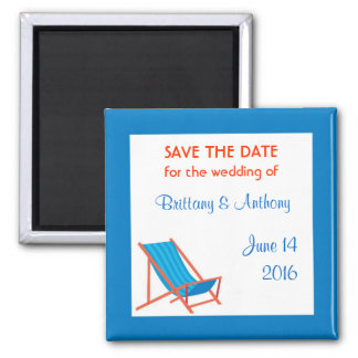 Beach Chair Save the Date Magnet