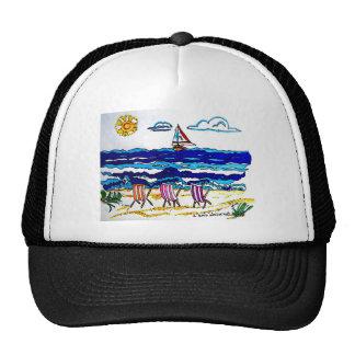 BEACH CHAIRS AT SEASIDE TRUCKER HAT