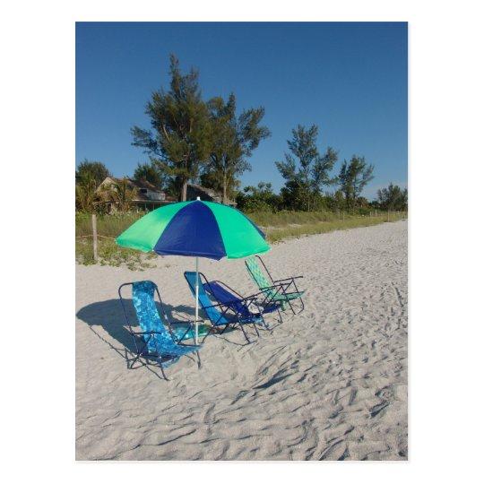 Beach Chairs On Captiva Postcard