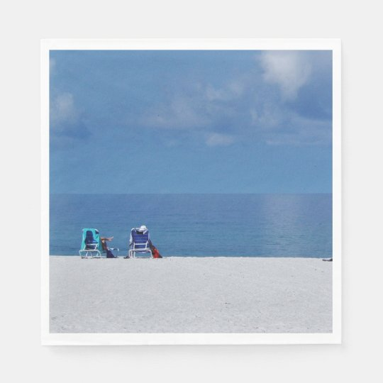 Beach Chairs Paper Napkins