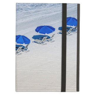 Beach Chairs with Blue Umbrella on Madeira Beach iPad Air Case