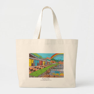 Beach Chalets Large Tote Bag